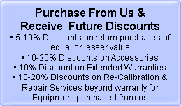 When purchasing from AAATesters you will be eligible for Future Discounts
