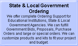 State &amp; Local Government Ordering