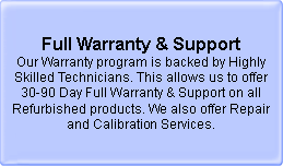 Full Warranty & Support