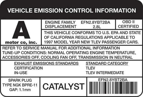 Catalytic Converter Honda Accord 2 3L California New York