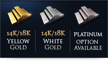 Yellow Gold - White Gold - Platinum Option Available