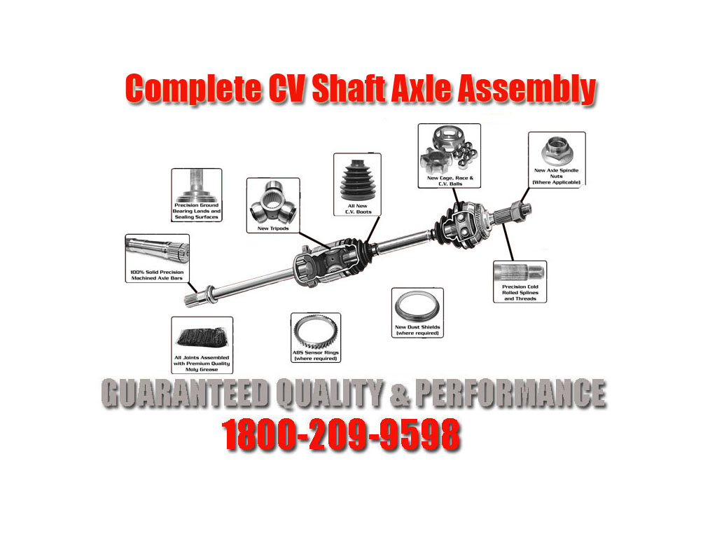 2  100  new complete cv drive shafts for 05